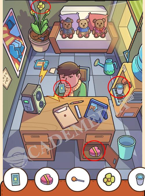 Kunci Jawaban Find Out Kantor (Office): Kartu, kado bentuk hati, bunga mekar, dan gelas berisi air