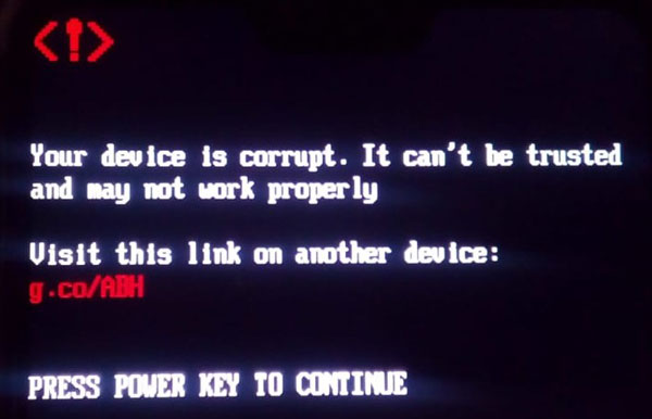 ASUS Max Pro M1 Your device is corrupt. It can't be trusted and may not work properly